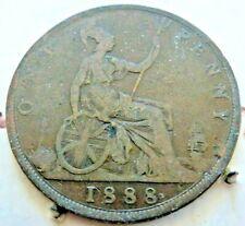 1888 PENNY IN FINE GRADE QUEEN VICTORIA BUN/YOUNG HEAD (CB77) JACK RIPPER YEAR