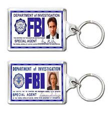 FOX MULDER DANA SCULLY FBI ID CARD X-FILES KEYRING LLAVERO