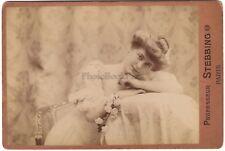 Actrice Artiste Beauté Photo Professeur Stebbing Paris Vintage Albumine ca 1890