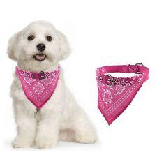 Adjustable Pet Dog Puppy Cat Neck Scarf Bandana with Leather Collar Neckerchief