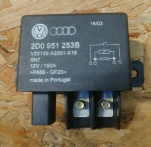 (72)VW TOUAREG 7L 5.0 V10 TDI Arbeitskontaktrelais 2D0951253B