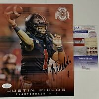 Autographed/Signed JUSTIN FIELDS Ohio State Buckeyes 8x10 Photo JSA COA Auto #4