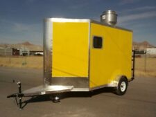 10' x 7' CONCESSION FOOD TRAILER RESTAURANT CATERING BBQ SINGLE AXLE V NOSE