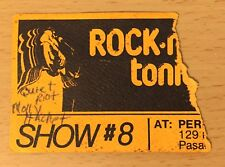1983 Quiet Riot Perkins Palace Concert Ticket Stub Rock 'N Roll Tonite Tv Taping