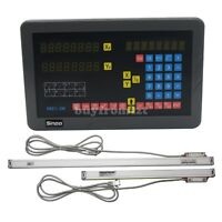 2 Axis Digital Readout DRO Kit with Linear Scales for Milling Machine
