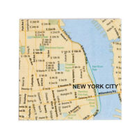 """NYC Map Cocktail Napkins (Pack of 20) - New York City Souvenir Party Gift 