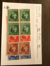 Great Britain Stamp #230-233 blocks of 4 Mnh sets Scv $7 - A39