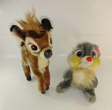 Vintage Disney Stuffed Plush Bambi And Thumper Sears Exclusive Set Disney