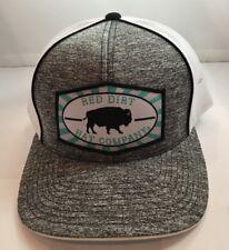 Red Dirt Beachnut TQ Buffalo Patch Hat SnapBack Trucker Rode Hat