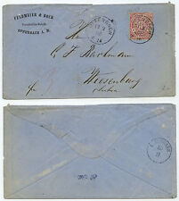 35580 - NDP Mi.Nr. 9 - Beleg - Offenbach 13.2.1868 nach Wiesenburg