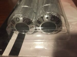 NOS Odyssey Hollow Bullets BMX Axle Pegs 3/8 inch Threaded 26T Old School Silver