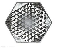 M C ESCHER ~ VERBUM ART POSTER MC M.C.