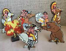 Vintage Cardboard Native American Target Set  Marx?