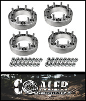 """4pc 2 inch Skid Steer Wheel Spacers 8x8 9/16"""" Studs /Lug Nuts 
