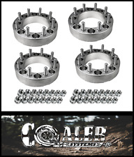 "4pc 2 inch Skid Steer Wheel Spacers 8x8 9/16"" Studs /Lug Nuts 