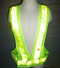 LIGHT UP ILLUMINATED SAFETY REFLECTIVE VEST, 16 RED LED, Biking Jogging Walking