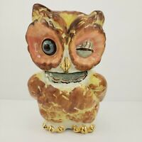 Winking Owl Cookie Jar Vintage Shawnee 1940s SEE IMAGES READ DETAILS