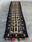 Authentic Hand Knotted Afghan Balouch Wool Area Runner 7 x 2 Ft (1194 HMN)