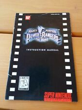 Mighty morphin power rangers Instruction Manual Booklet