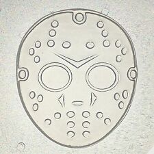 "Flexible Resin Or Chocolate Mold Jason Hockey Mask Mould 2.5"" x 1/4"" deep"