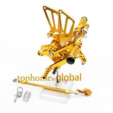 For Honda CBR600 F4i  2001-2006 CNC Adjustable Rearset Footpegs Rear Set  Gold