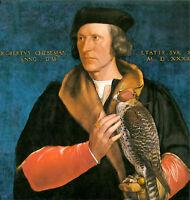 Art Oil painting Holbein Hans - Male Portrait of Robert Cheseman & bird hawk