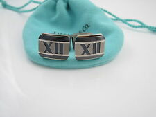 Tiffany & Co Titanium Atlas Roman Numeral Cuff Links Cuff Link Cufflinks!