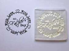 With Love on Father's Day Clear Circle Stamp to Make / Personalise Cards