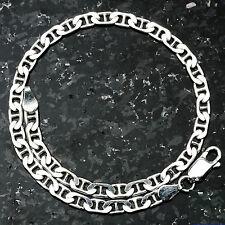 "Mariner 100-9"" 4mm 6.2 Gram Italian Link .925 Sterling Silver Bracelet 9"""