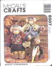 "8507 UNCUT McCalls Vintage Sewing Pattern Craft 14"" Honey Bee Mine Bears OOP SEW"
