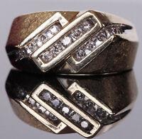 Men's handmade 14k yellow gold 0.50ct natual diamond size 6.75 ring 6.9g  #N1021