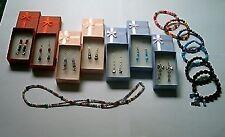 Joblot Beaded Jewellery-Beautiful Earrings/Bracelets/Necklace+Gift Boxes, 14 Pcs