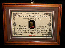 CHRISTIAN CONFIRMATION~PERSONALIZE IT With Your Name-Bible Scripture~Plaque Gift