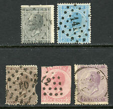 BELGIUM 1865-67 ISSUE USED (WITH FAULTS)