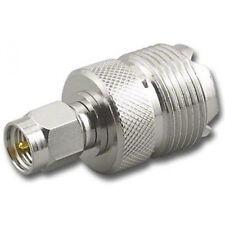 SMA Male (SMA-M) to SO239 / PL259 UHF Female (SO239-F) Antenna RF Adapter