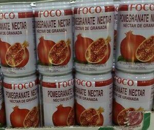 POMEGRANATE NECTAR, 8 CANS (350ml ea)  FOCO DRINK. F