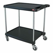 Zoro Select My2030 24bl Polymer Shelf Utility Cart With Lipped Plastic