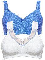 5c19e8091e Kmart PINK Brand Full Figure Lace Trim Cotton Wire Free Bra - blue ...