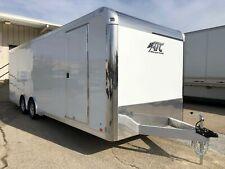 ATC 8.5 X 24 Aluminum Car Hauler Race Trailer w/ Escape Door - White or Silver