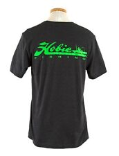 HOBIE Men's Fishing Logo Short Sleeve T-Shirt CHARCOAL / LIME Size LARGE #6519