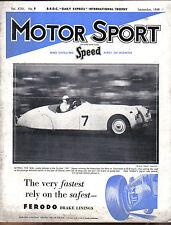 Motor Sport 09/1949 Alfa Romeo 1½, Sunbeam Talbot 80, De Dion Bouton +