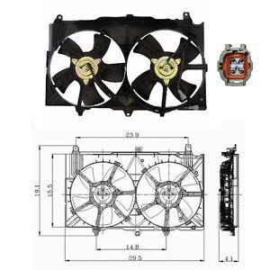 Dual Rad & Cond Fan Assembly Fits: 2003 - 2006 Nissan 350Z V6 3.5L