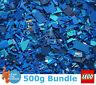 Genuine Lego 500g / 0.5kg Bundle of Mixed Blue Bricks Joblot + Free Minifigure
