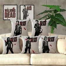The Walking Dead Pattern Linen Throw Pillow Cases Sofa Pillow Cover Home Decor