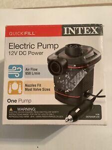 Intex Quick-Fill DC Electric Air Pump, 12V, Max. Air Flow 650 L/min