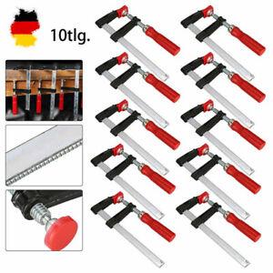10x SCHRAUBZWINGEN-SET 150/300MM TEMPERGUß SPANNZWINGE LEIMZWINGE KLEMMZWINGE-DE