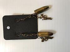 9mm bullet and Gun Earrings