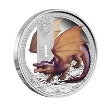 1 x Mythical Creatures series - Dragon - 1 oz silver proof coin - Perth Mint
