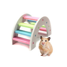 Hamster Climbing Toy Wooden Colorful Bridge Small Animal Pets Climbing Toy