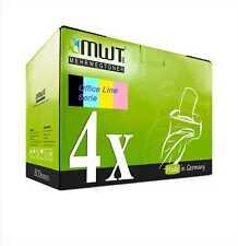 4x Office Toner/Chip für Lexmark X-544-DN C-544-N C-544-DN C-544-DW C-543-DN